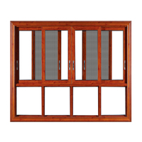China factory wholesale Aluminum residential used double glazed sliding window