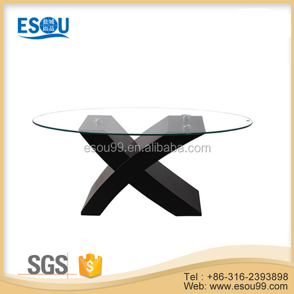 Decorative Home Beauty Clear Tempered Glass Top Coffee Table