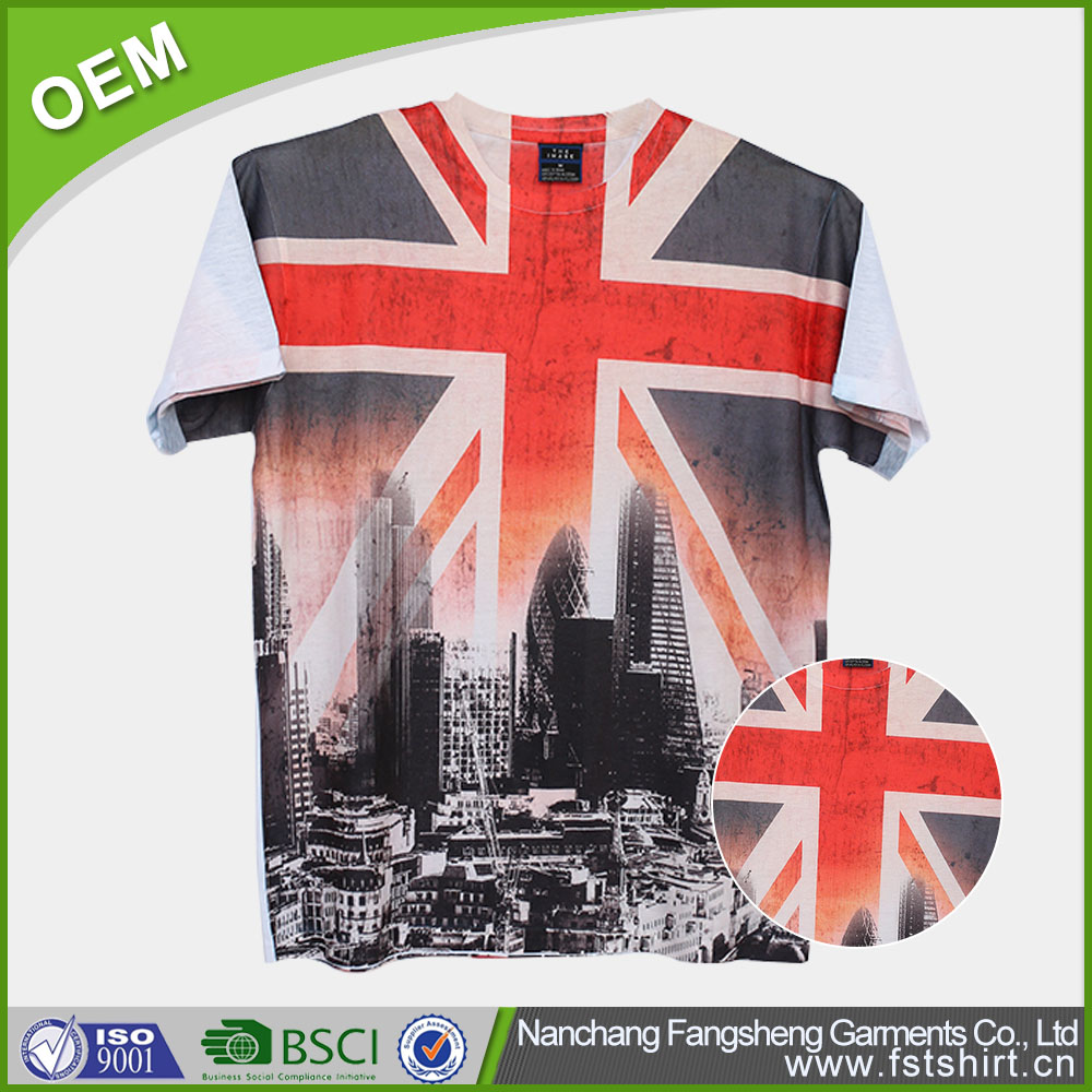 Latest England Britain UK batik indonesia t shirt for man
