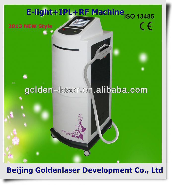 2013 Exporter beauty salon equipment diode laser E-light+IPL+RF machine 2013 med spa