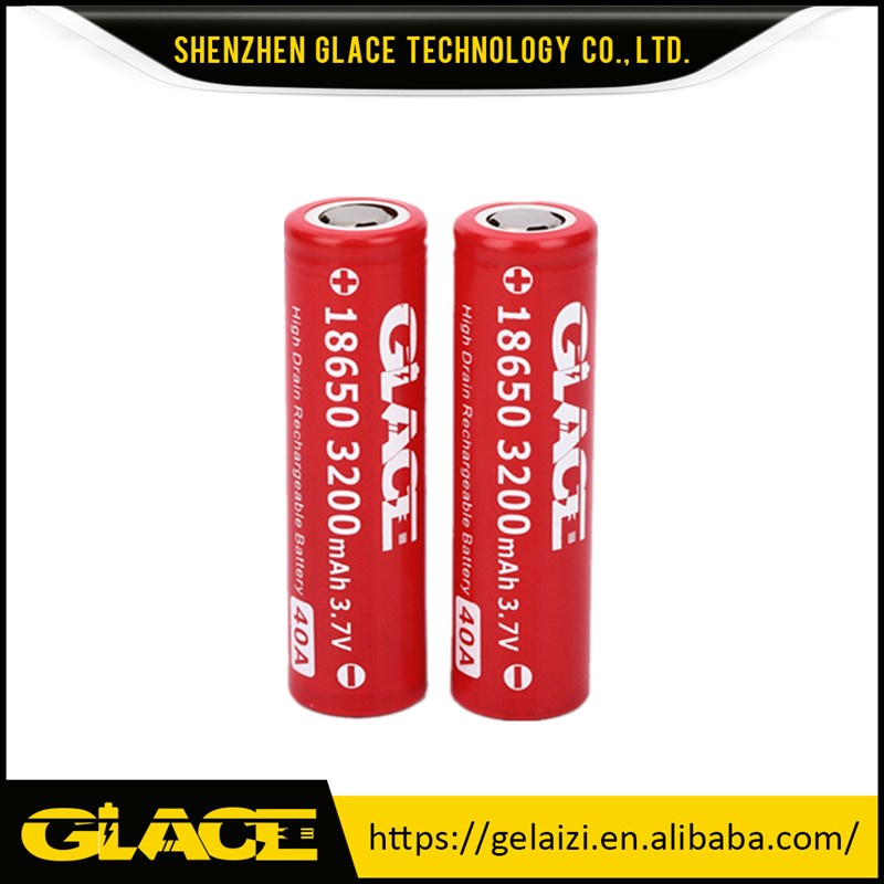 Directly selling high discharge lithium glace 18650 3.7V 3200mAh li ion battery cells