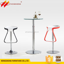 modern home or restaurant round bar counter design with glass top