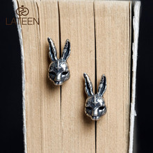 Creative S925 sterling silver cute rabbit vintage stud <strong>earrings</strong> personality jewellery for girls