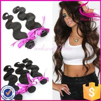 High quality #1b color 3pcs 16inch body wave hair bulk 100 human hair weave brands virgin hair extensions for black women