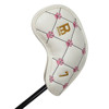 Custom white color embroidery golf iron club head cover
