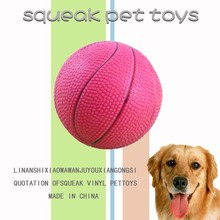 Basketball custom made plastic toys 2015 pet dog toy