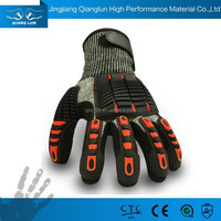 EN388 customized anti impact shock absorbing gloves
