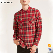 Hot sale high quality custom casual men flannel new model shirts 2017