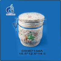 Birthday gift dessert container ceramic canister tea coffee sugar set with high quality