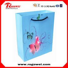 Multifunctional led light christmas paper bags with high quality