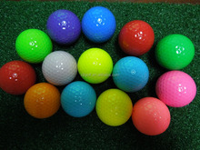 Golf Ball Manufacturer Colored Promotional Rubber Golf Balls