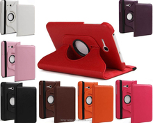 High quality 360 Rotating Leather case For Samsung Tab 3 7.0 T110, for samsung tab T110 leather case