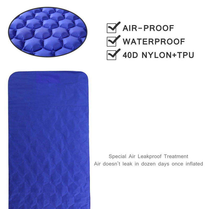 Outdoor Sleeping Pad Camping Sleeping Mat Inflatable Air Bed Mattress