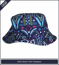 Custom all over print bucket hat pattern free