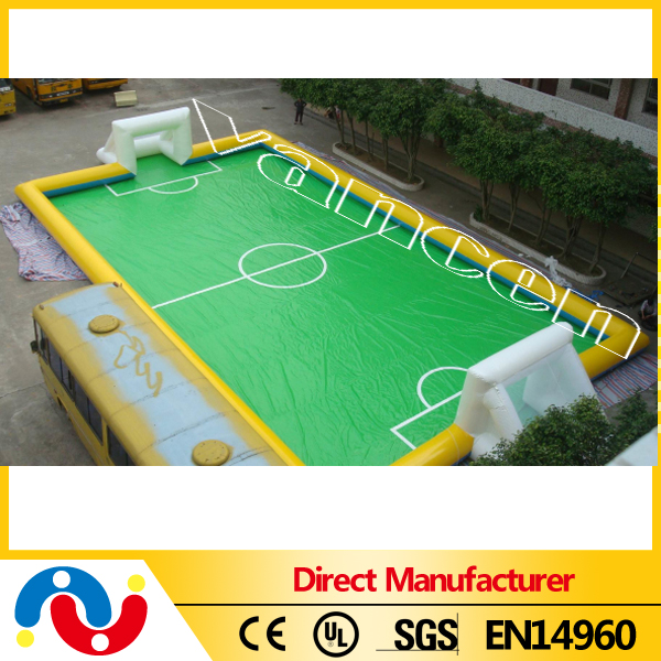 16x9x3m inflatable water soccer football field arena