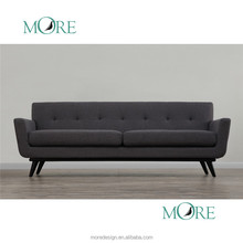 Mid-Century Modern Classic with Charcoal Cashmere Wool Living Room Furniture sofa