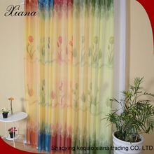 Two kinds of color patterned voile curtains