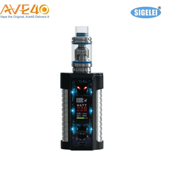 38A 18650 battery Sigelei MT 220W Box Mod with 1.0 inch TFT color screen