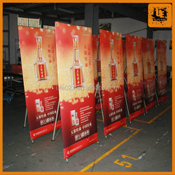 competitive price aluminum stand up picture frame advertising frame with graphic x banner stand with competitive price