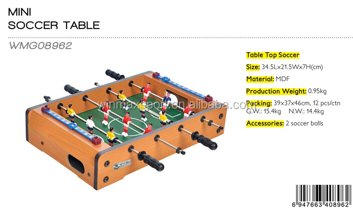 Portable mini soccer table/mini indoor soccer game table