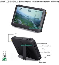 "5.8Ghz 5"" hd LCD receiver, wireless monitor/DVR for aircraft, RC plane te968h"