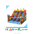 Elephant giant inflatable three ways slides 0.55MM PVC tarpaulin for sale