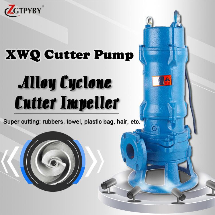 submersible sludge pumps cutting water pump submersible grinder pump