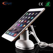 White color ABS material security alarm display rotating tablet stand 360 degree rotation