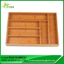 Hot Selling Kitchen Layered Bamboo Cutlery Tray