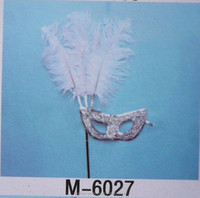 colorful ostrich feather headress for carnival party M-6027