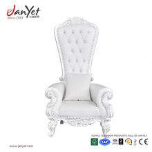 High Quality Wedding High Back White Tufted Throne Chair