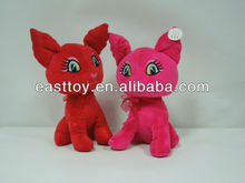 stuffed red pink soft cat