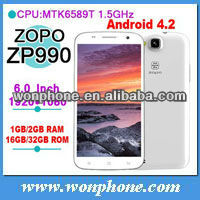 2014 newest ZOPO ZP990 MTK6589T Quad Core Android 4.2 1GB/2GB RAM 16GB/32GB ROM phone