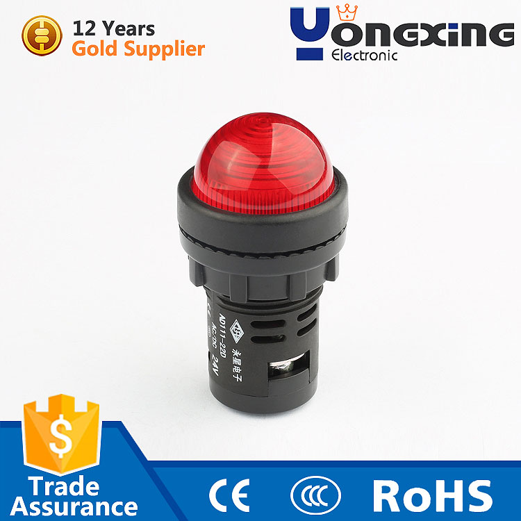 Made in china 22mm red 12v 24v 120v ac led indicator lamp