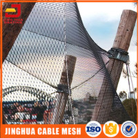 Stainless steel cable netting for zoo enclosure mesh