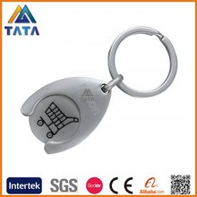 TATA Cheap Custom Trolley Coin Metal Keychain