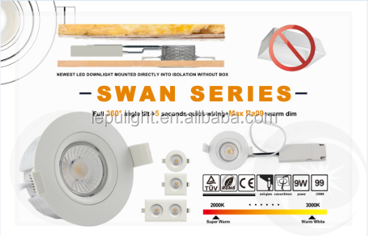 CE,Rosh,NEMKO Ra>92 IP44 360deg tilt GYRO Downlight actec driver 5 years warranty