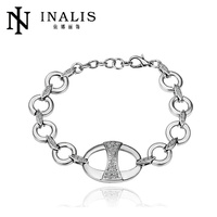 Elegant ladies party accessories 18k white gold bracelet B045