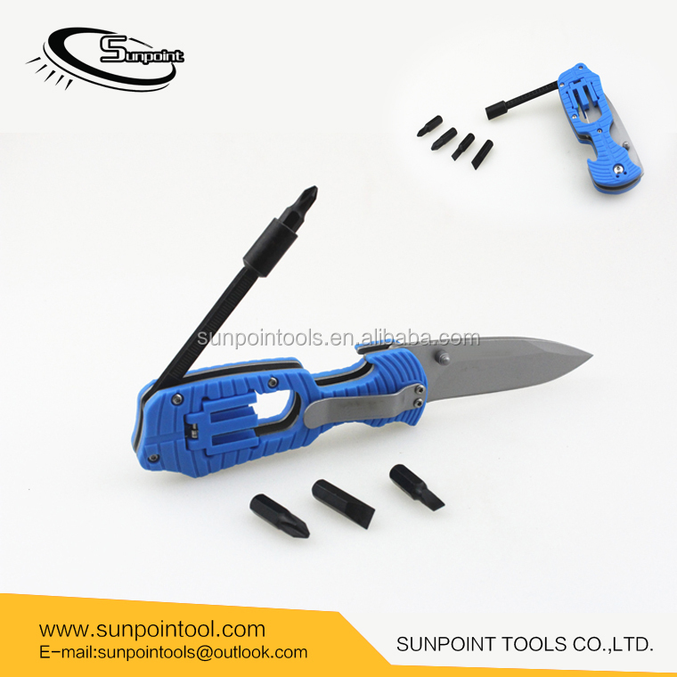 Multifunction Tactical Folding Survival Pocket Knife Functions As A Camping Knife includes Flathead and Phillips Screwdriver