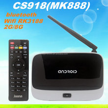 full hd 1080p porn video android box Smart tv stick 2GB/8GB Quad Core Remote Control Mini PC CS918 MK888 RK3188