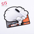 High Quality a4 colorful pvc soft magnets board magnetic memo board with pen