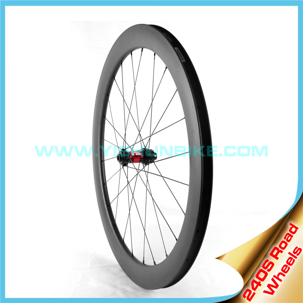 China manufacture 700C disc brake carbon wheel DB240-88C UD/3K matt/glossy full carbon rims wheelset