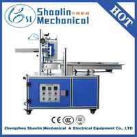 Semi Automatic paper bag folding gluing machine with Hot Melt Adhesive