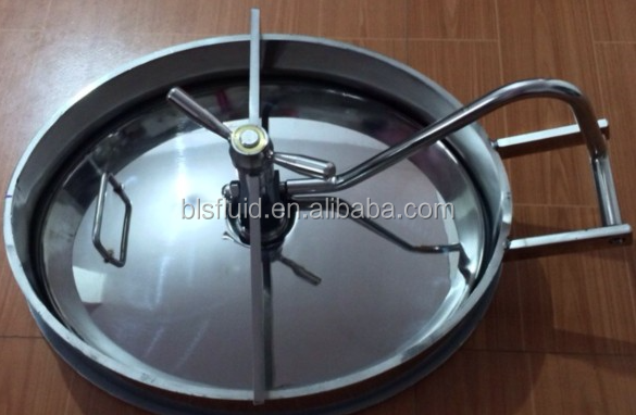 stainless steel YAC down manhole cover for tank