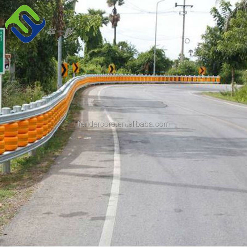 China supplier New designed Foam Filled Materials Accident Prevents Rolling system use roller spinning barrier in Yellow and Ora