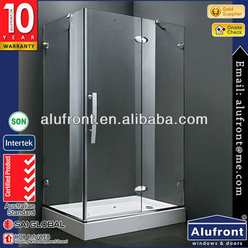 2016 Guangzhou crown cheap price tempered glass shower door