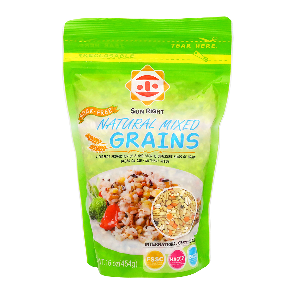 10 Natural Mixed Grains Package With Brown Rice And Oatmeal