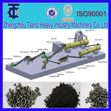 Professional animal manure biological fertilizer pelletizer equipment/pellet plant