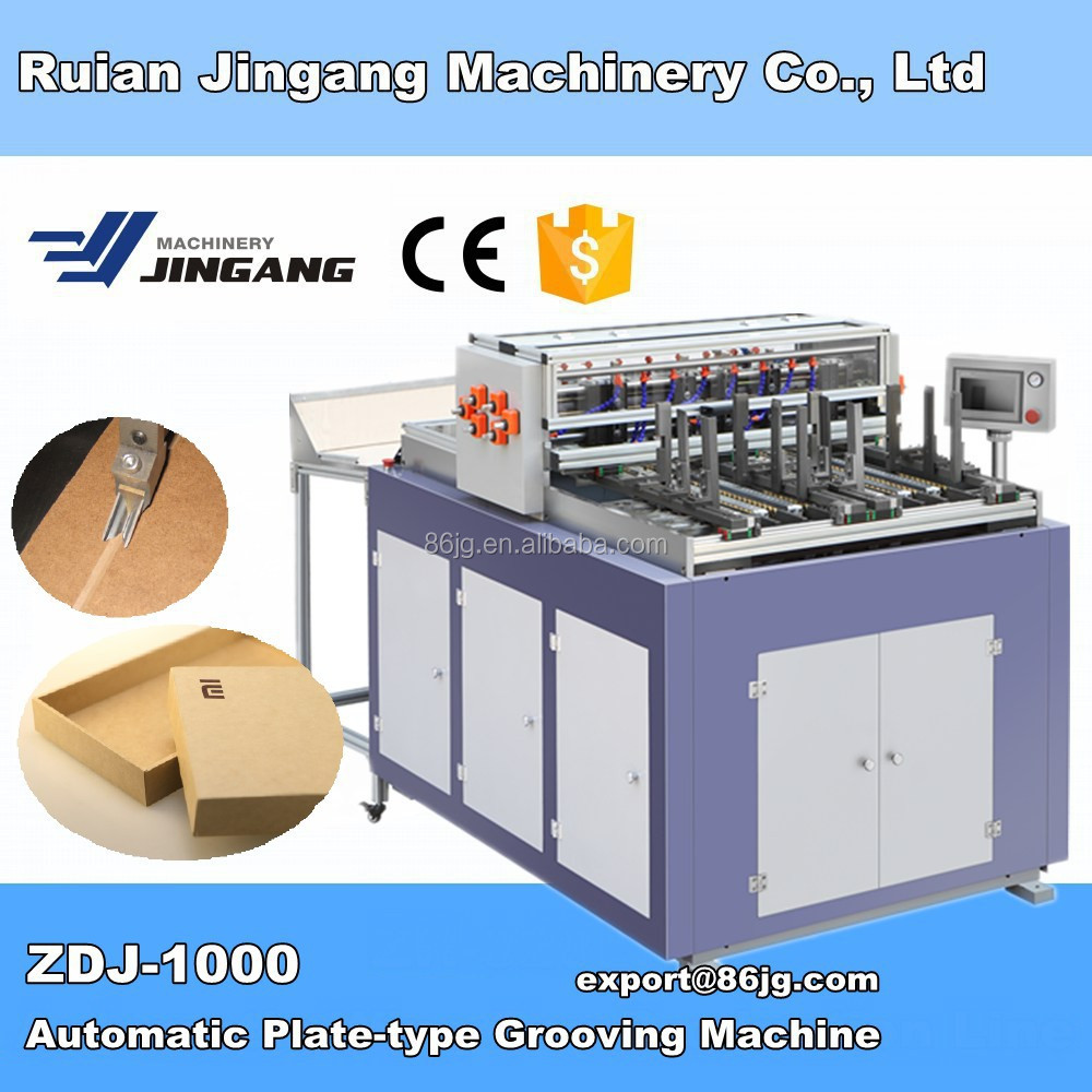 2016 ZDJ-1000 Automatic Flip Cover Case Groove Making Machine