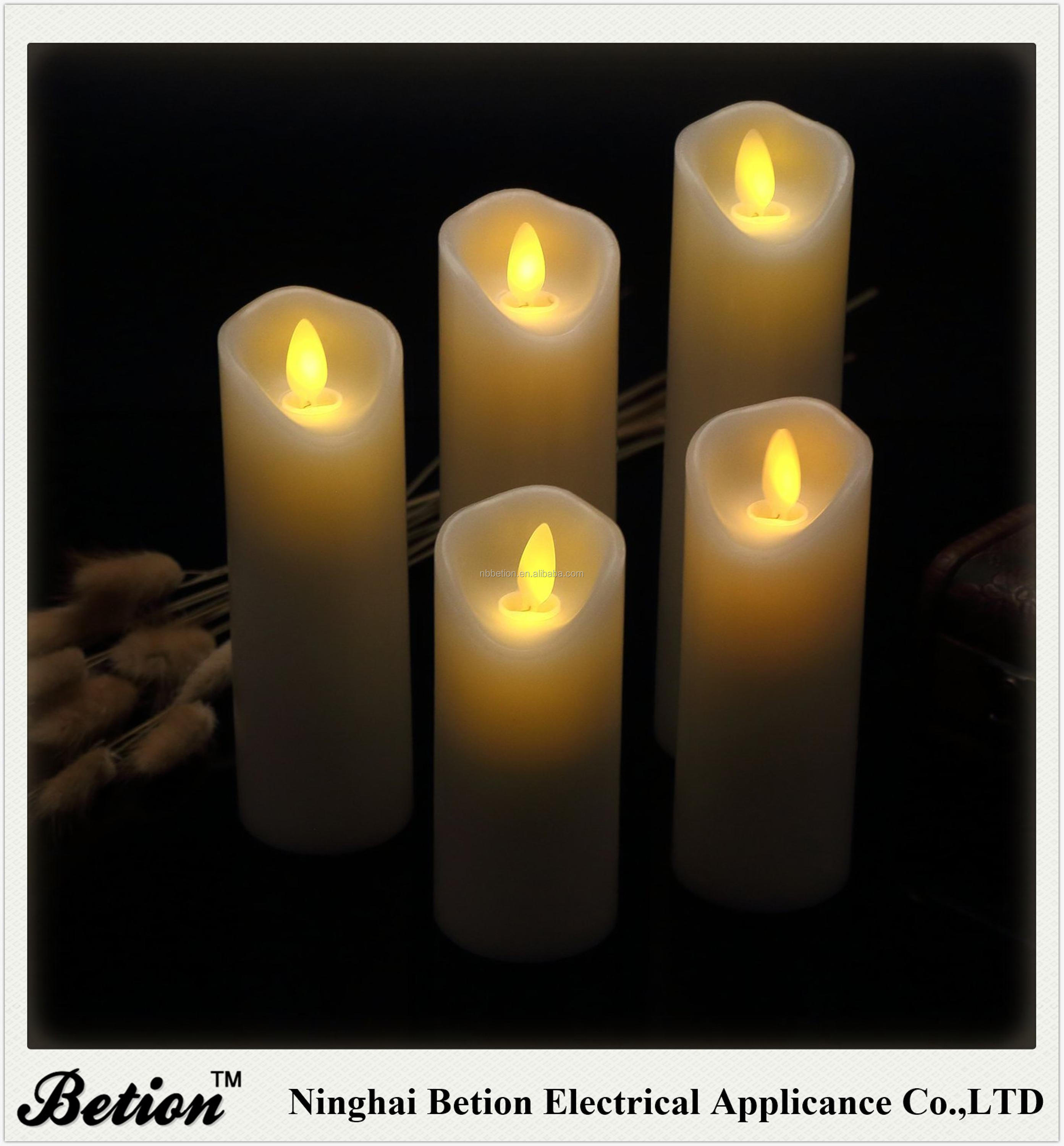 "LED Candles Flickering Flameless Candles Set Decorative Flameless Candles: 4"" 5"" 6"" 7"" 8"" Classic Real Wax Pillar candles"